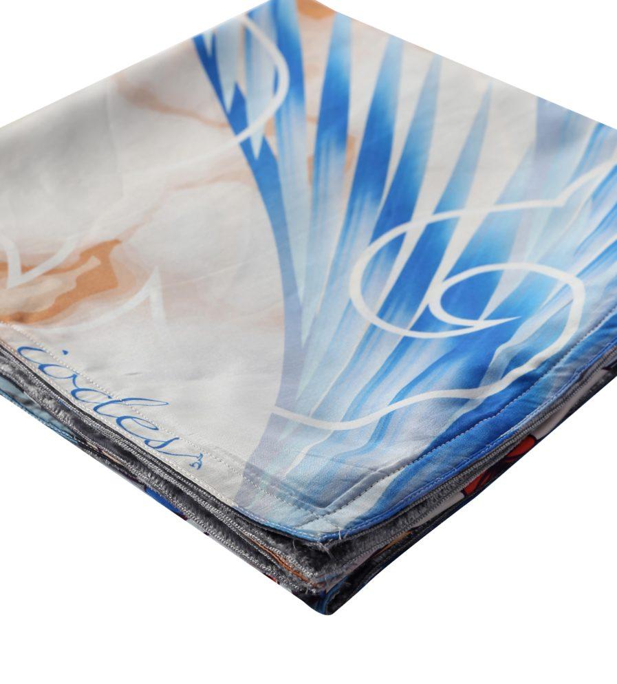 Lumi Silk Scarf Blue