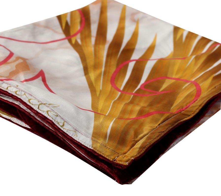 Lumi Silk Scarf Gold