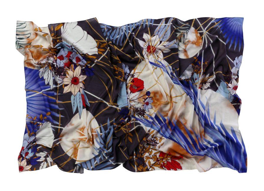 Lumi Wool Scarf Blue