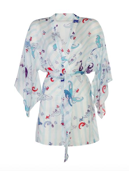Kimono Short Blue-Red