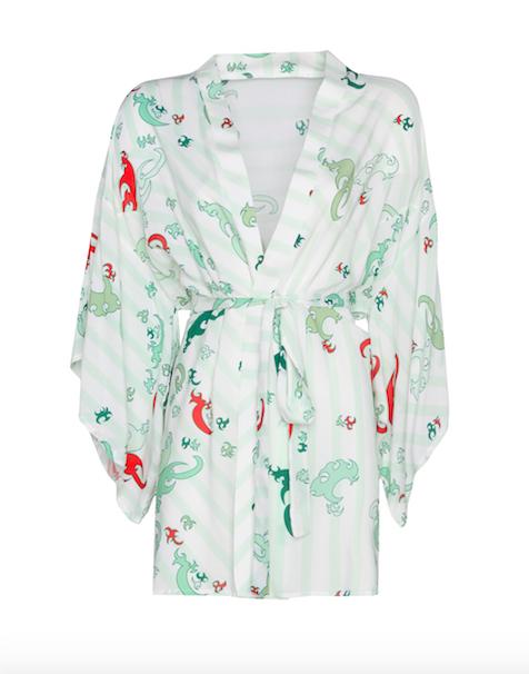 Kimono Short Green-Orange