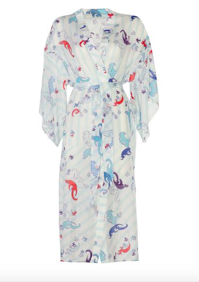 Kimono Long Blue-Red